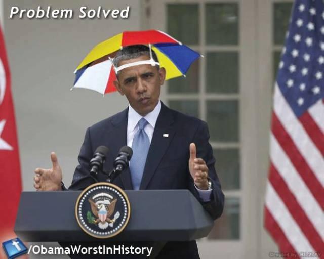 ObamaUmbrellaHat