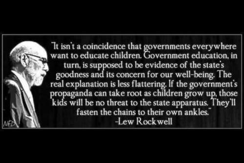 Government and education is bad
